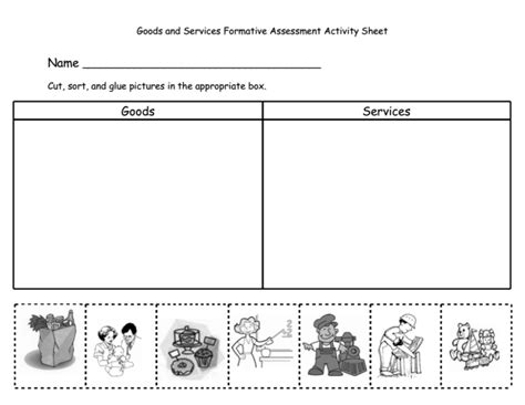 Goods And Services Worksheets by New 360 Grade Worksheet On Goods And Services