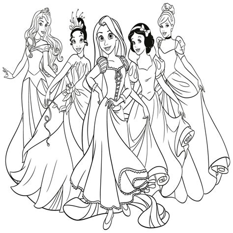 dibujos de princesas de disney dibujos para colorear dibujo de una princesa para colorear