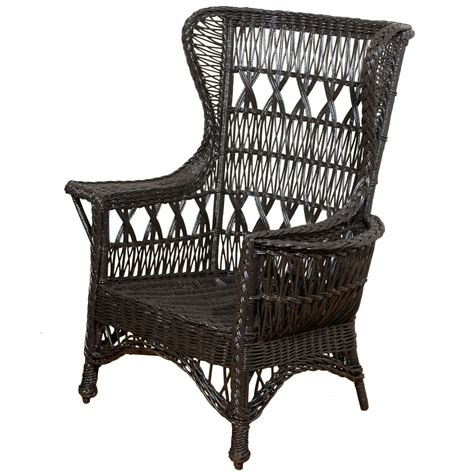 antique wing chair antique american wicker wing chair with magazine pocket at