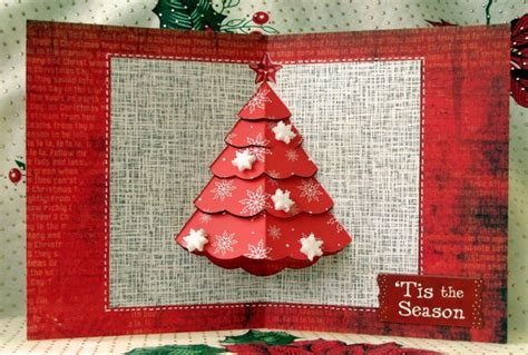 Simple Pyramid Tree Pop Up Card Template by 30 Pop Up Cards 2017