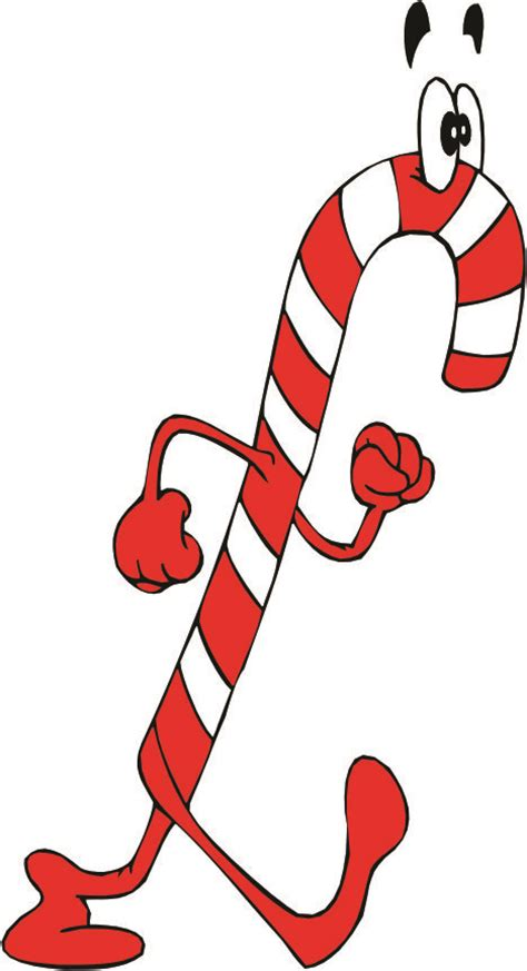 cartoon candy cane clipart best