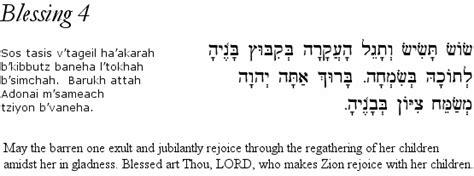 Wedding Blessing In Hebrew by Hebrew Wedding Blessings Sheva Berachot