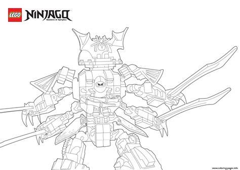 samurai ninja coloring pages cyren ninjago in samurai monster coloring pages printable