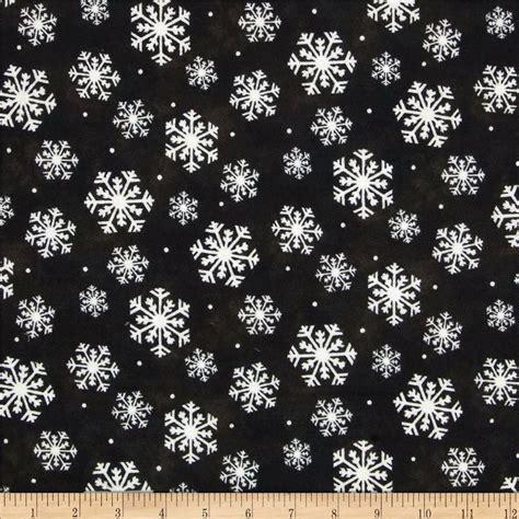 snowflake pattern material wonder of winter snowflakes black discount designer