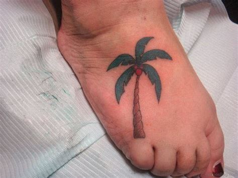 palm tree ankle tattoo 39 tree tattoos on foot