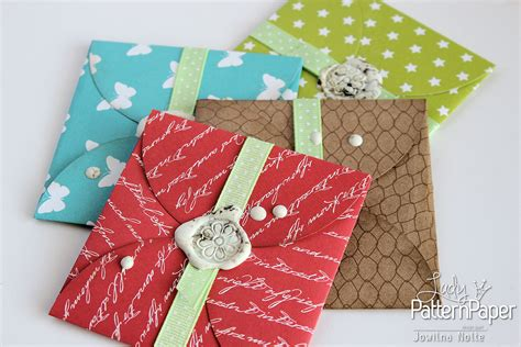 Hand Made Gift Cards - handmade gift card envelopes lady pattern paper