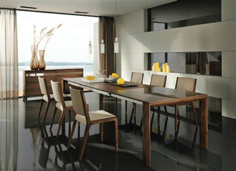 contemporary setting wooden furniture in a contemporary setting