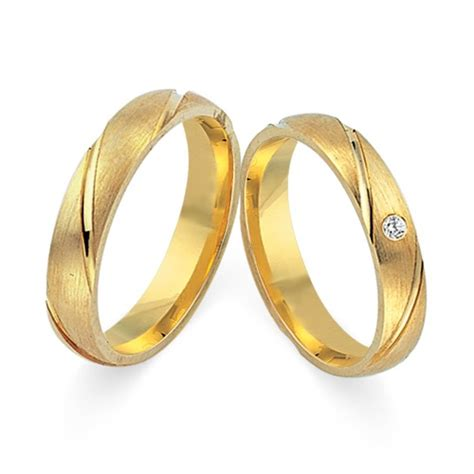 Eheringe Jeweller by Trauringe 585er Gelbgold Mit Brillant Wr0220 5s
