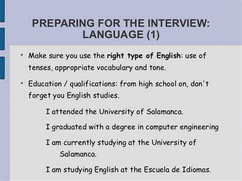 How To Make A Resume For Job Interview esl job interview