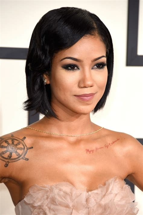 jhene aiko short hair beauty trends from the 2015 grammys beauty rsvp