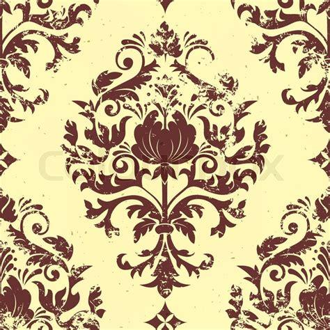 damask seamless pattern element vector vintage damask seamless pattern element grunge