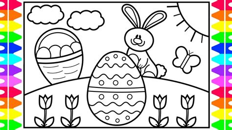 draw  easter bunny step  step  kids