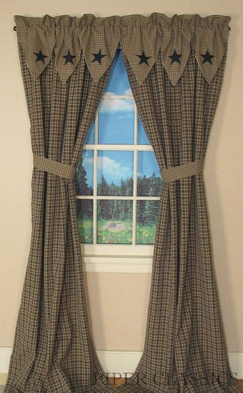 primitive shower curtain clearance primitive curtains on pinterest country curtains