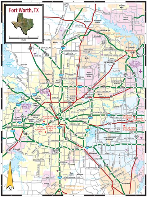 dallas texas road map fort worth tx map