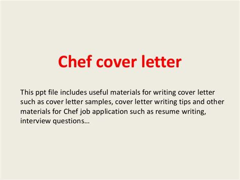 cover letter chef de rang chef cover letter