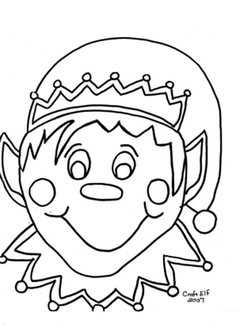 coloring page elf with present free christmas coloring pages family christmas activity