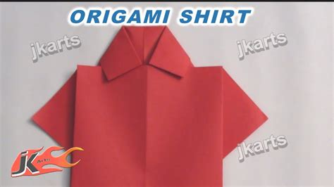 Easy Origami Shirt - how to make origami shirt for s day card
