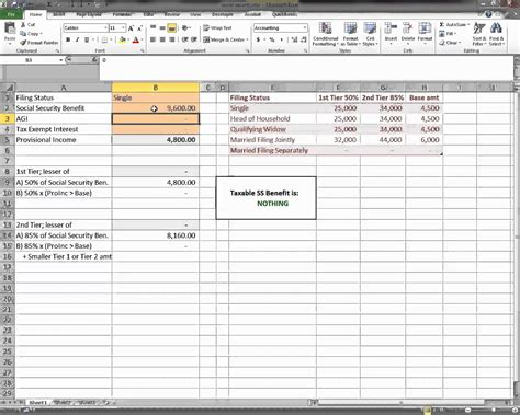 Social Security Spreadsheet by Worksheet Social Security Benefits Worksheet Calculator