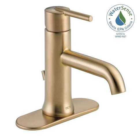 delta brass bathroom sink faucets delta trinsic single single handle bathroom faucet