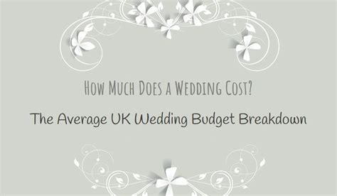 Wedding Budget Breakdown Uk by How Much Does A Wedding Cost The Average Uk Wedding