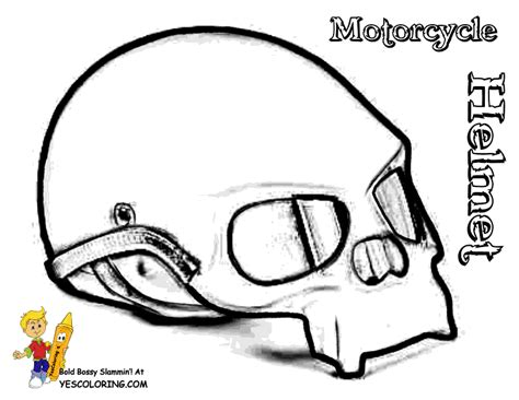 bike helmet coloring pages