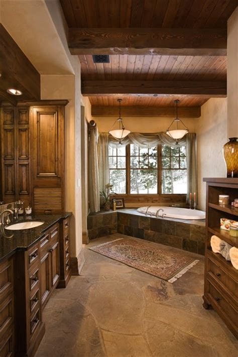 Rustic Bathrooms Images by Rustic Master Bath Decozilla