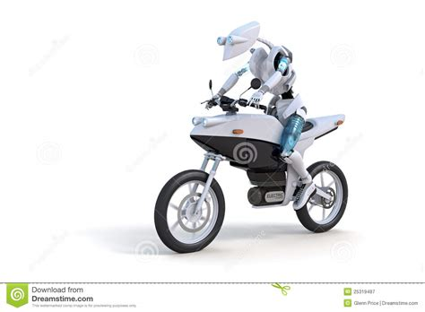Motorrad I Robot by Robot Motorcycle Royalty Free Stock Photography