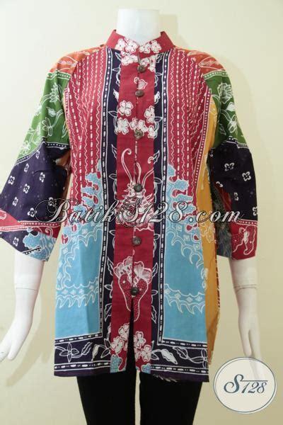 Baju Celana Wanita Stelan Asifa Matahari Baju Atasan Blus Batik Modern Wanita Motif Sinaran