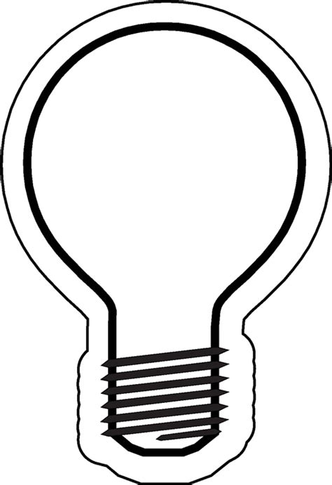 light template light bulb template clipart best