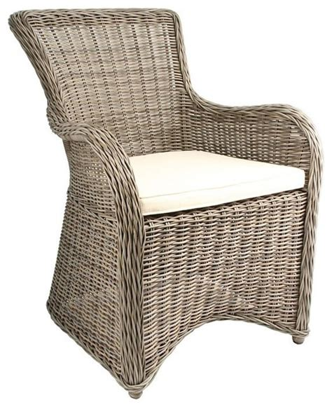 grey rattan club chair krista outdoor armchair gray kubu rattan wicker