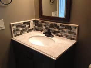 tile backsplash bathroom ideas cool glass sink home design