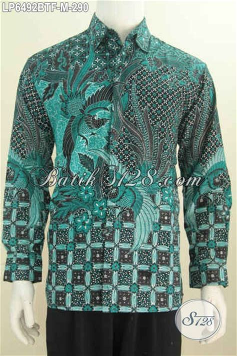 Baju Warna Hijau Kombinasi kemeja batik kombinasi tulis warna hijau baju batik halus lengan panjang elegan furing di