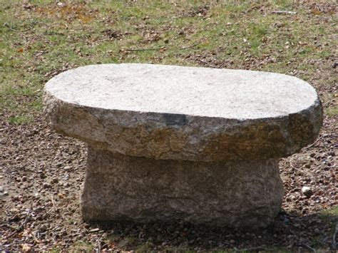 bench stone new england fieldstone stone benches