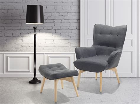 Ottoman Sessel by Armchair Grey Settee Seat Upholstered Armchair