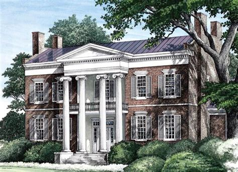 southern colonial house plans colonial plantation southern house plan 86274
