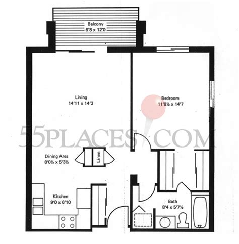 heather gardens floor plans 780 floorplan 780 sq ft heather gardens 55places com