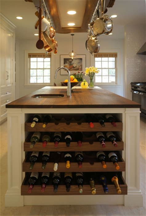 kitchen island with wine rack island with wine rack transitional kitchen astro design center