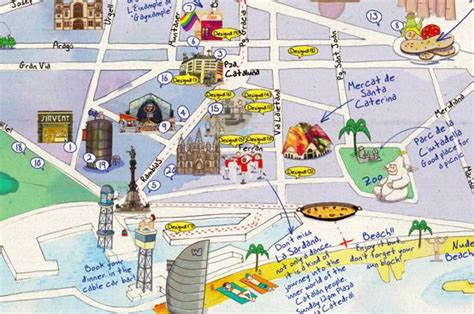 barcelona map tourist attractions maps update 30722069 barcelona spain tourist map