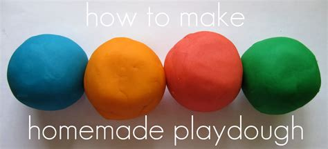 Handmade Playdough - playdough recipe