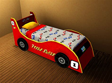 kids race car bed my sims 3 blog race car bed for kids teens by lhawk07