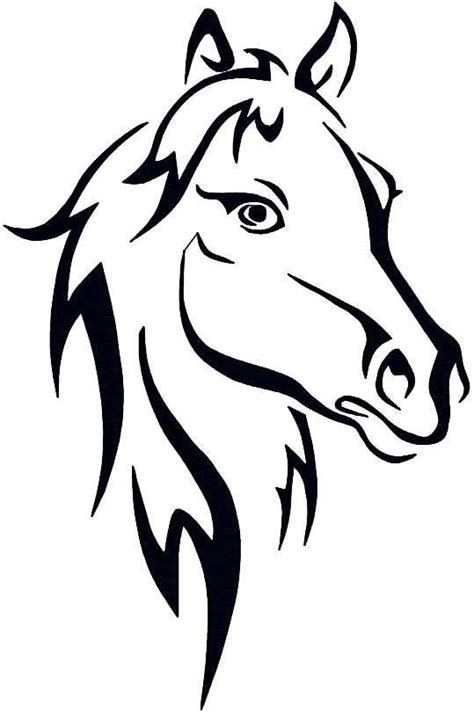 pattern horse drawing horse outline abstract horse instant download embroidery
