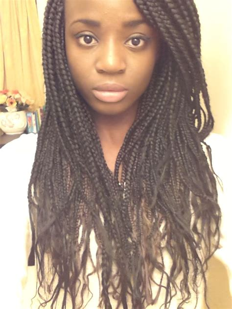 ends of my bushy box braids box braids with loose ends hair pinterest we