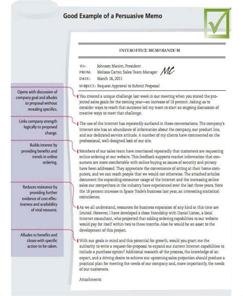 Persuasive Business Memo Business Memo Templates 10 Exles In Word Pdf