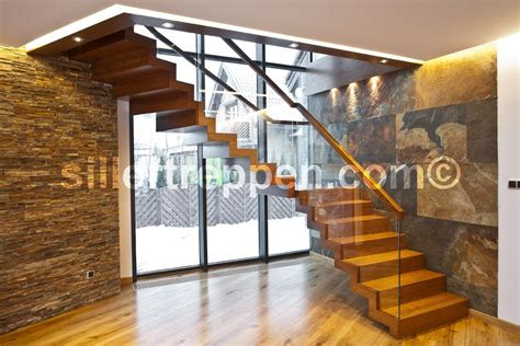 moderne treppen zig zag design wood and glass open staircase by siller