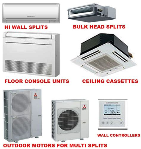 mitsubishi electric split air conditioners ducted air