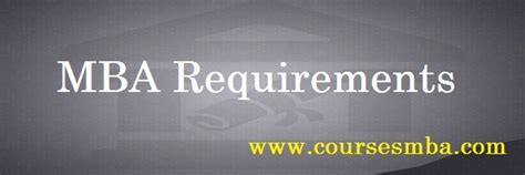 Mba Program Requirements by Mba Requirements Writefiction581 Web Fc2