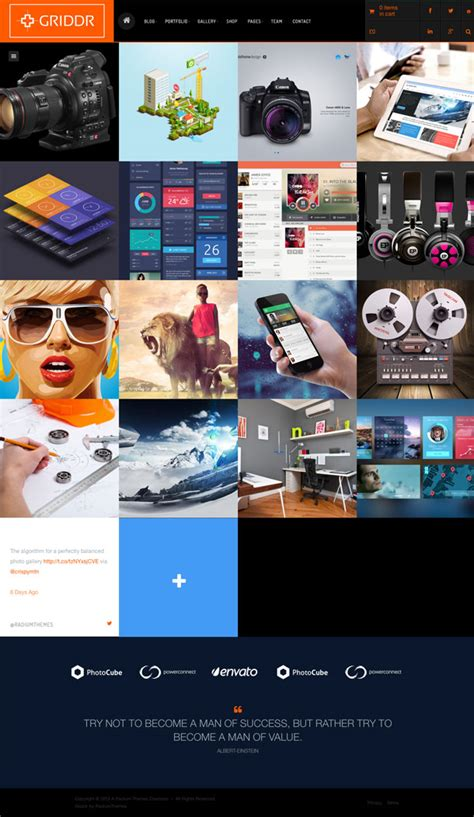 Griddr Animated Grid Creative Theme 33 grid themes for 2014