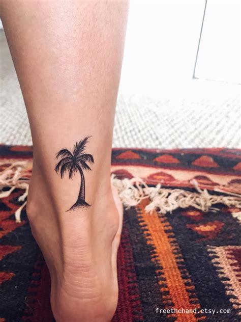 palmier arbre tatouage temporaire lot de 2