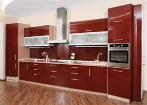 New Kitchen Cabinet Designs Pictures Of Kitchens Modern Red Kitchen Cabinets