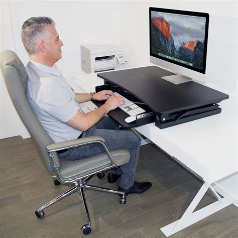 sit to stand adjustable desk riser xec fit adjustable height convertible sit to stand up desk